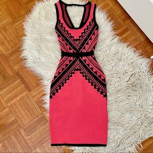 BEDO coral cocktail dress XS